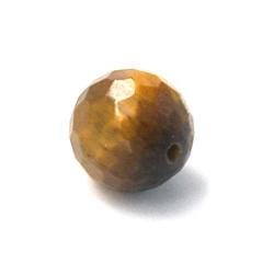 Tigereye kraal rond facet 12mm (5 st.)