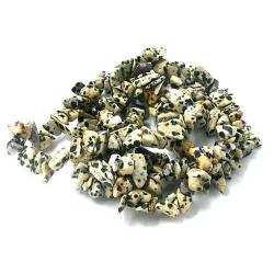 Chips/splitkraal edelsteen Dalmatier Jaspis (1 streng)