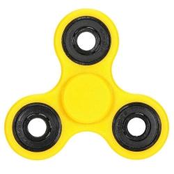 De rage van 2017: Fidget Spinner geel (1 st.)