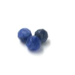 Sodaliet kraal rond facet 6mm (10 st.)