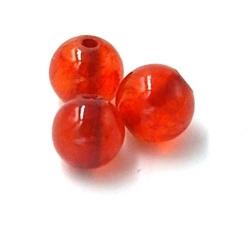 Gekleurd steen kraal steenrood 6mm (10 st.)