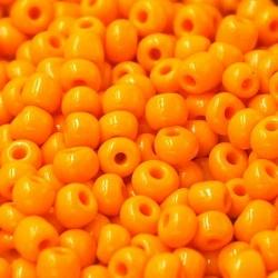Rocailles oranje ca. 3mm (50 gr.)