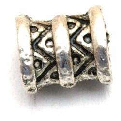 Metaal kraal, rond, zilver, 10 mm (10 st.)