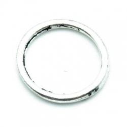 Montagering, metal, zilver, 20 mm (10 st.)