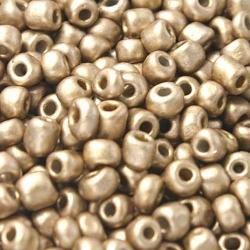 Rocailles goud mat ca. 3mm (50 gr.)