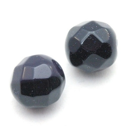 Blue Goldstone kraal rond facet 14 mm (5 st)