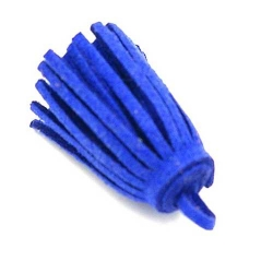 Kwastje suede blauw 3cm (3 st.)