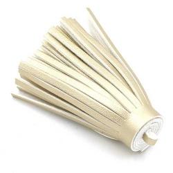 Kwastje PU leer goud 6,5cm (1 st.)