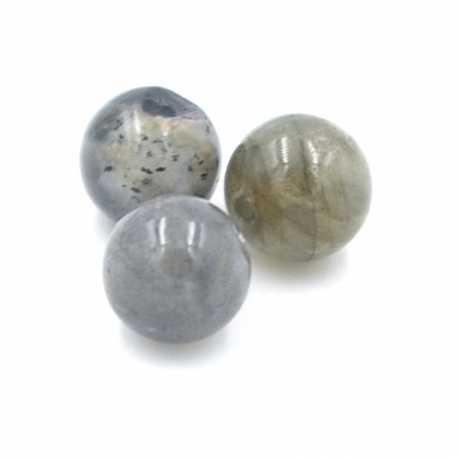 Labradoriet kraal rond 10mm (10 st.)