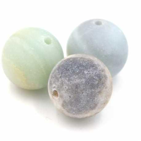Amazoniet kraal frost rond 12mm (5 st.)