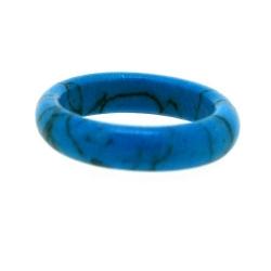 Ring, halfedelsteen, Turquoise, maat 20.5 (1 st.)