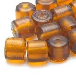 Glaskraal, cylinder, bruin, 9 mm (20 st.)
