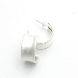 Oorbellen, sterling zilver (1 paar)