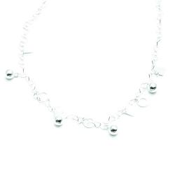 Ketting, sterling zilver, schakels, hartjes (1 st.)