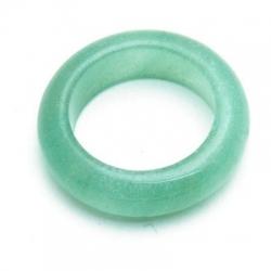 Ring, halfedelsteen, lichtgroen, maat 20 (1 st.)