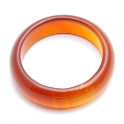 Ring, halfedelsteen, donker oranje, maat 17.5 (1 st.)
