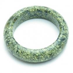 Ring, halfedelsteen, yellow pine, maat 15 (1 st.)