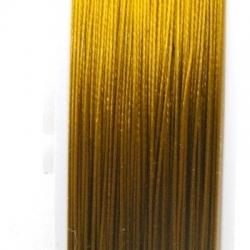 Staaldraad goud 0.3mm (100 meter)