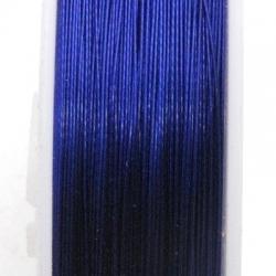 Staaldraad donkerblauw 0.3mm (100 meter)