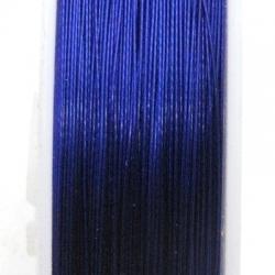 Staaldraad donkerblauw 0.45mm (100 meter)