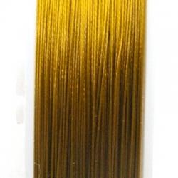 Staaldraad goud 0.6mm (100 meter)
