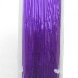 Elastiek rijgdraad 0.6mm paars (10 mtr.)