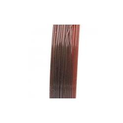 Elastiek rijgdraad 0.6mm bruin (10 meter)