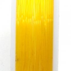Elastiek rijgdraad 0.6mm oranje (10 meter)