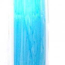 Elastiek rijgdraad 0.6mm lichtblauw (10 meter)