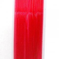 Elastiek rijgdraad 0.6mm rood (10 meter)