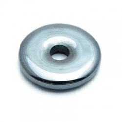 Halfedelsteen hanger Hematiet donut 23 mm (2 st.)