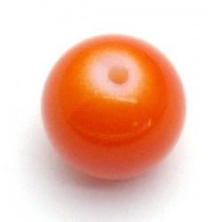 Glaskraal, rond, oranje, 14 mm (10 st.)