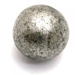 Kunststof kraal rond groot rijggat zilver 16 mm (5 st.)