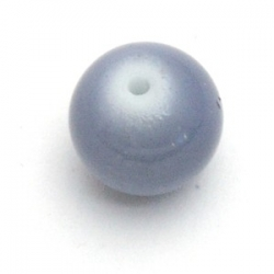 Glaskraal, rond, grijs, 14 mm (10 st.)
