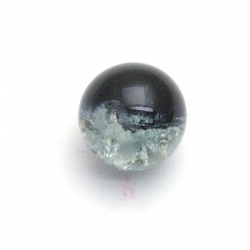 Crackle kraal, rond, zwart, 8 mm (25 st.)