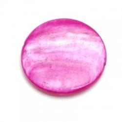 Schelp kraal, rond, fuchsia, 20 mm (10 st.)