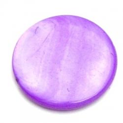 Schelp kraal, rond, paars, 24 mm (5 st.)