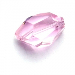 Glaskraal, facetbrok, roze, 20 mm (5 st.)