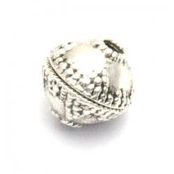 Metalen kraal, ovaal, zilver, 11 x 12 mm (5 st.)