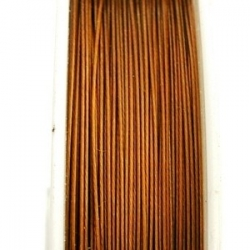 Staaldraad bruin 0.45mm (100 meter)