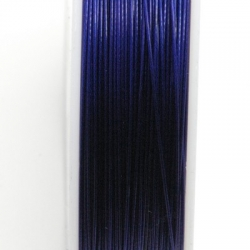Staaldraad donkerblauw 0.38mm (100 meter)