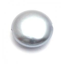 Kunststof kraal grijs rond plat 14 mm (10 st.)