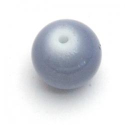 Glaskraal, rond, grijs, 12 mm (15 st.)