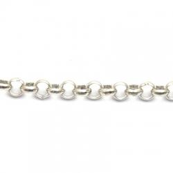 Jasseron, zilver, 6 mm (1 mtr.)