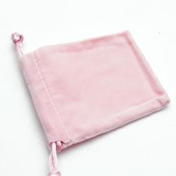 Velours buideltje, roze, 12 x 16 cm (1 st.)