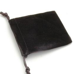 Velours buideltje, zwart, 10 x 12 cm (1 st.)