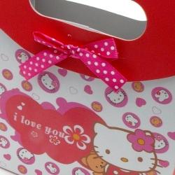 Cadeautasje, roze, Hello Kitty, klein, strik, 38-3 (1 st.)