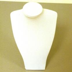 Buste, velours, wit, 18 cm (1 st.)