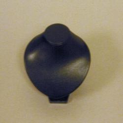 Buste PU leer zwart 11cm (1 st.)