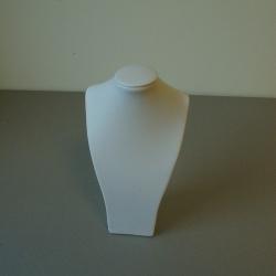 Buste, PU leer, wit, 31 x 17 cm (1 st.)